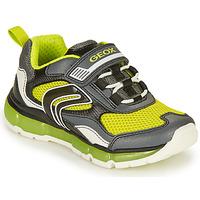 Cipők Fiú Rövid szárú edzőcipők Geox ANDROID BOY Szürke / Lime