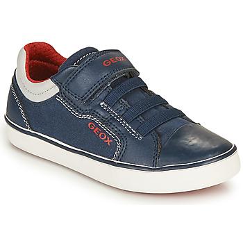 Cipők Fiú Rövid szárú edzőcipők Geox GISLI BOY Tengerész / Piros