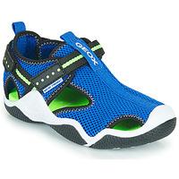 Cipők Fiú Sportszandálok Geox JR WADER Kék / Zöld