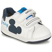Cipők Fiú Rövid szárú edzőcipők Geox NEW FLICK BOY Fehér / Kék