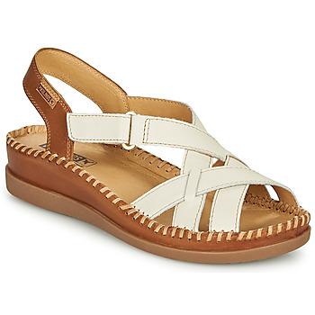 Cipők Női Szandálok / Saruk Pikolinos CADAQUES W8K Fehér / Barna