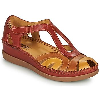 Cipők Női Szandálok / Saruk Pikolinos CADAQUES W8K Piros / Bézs
