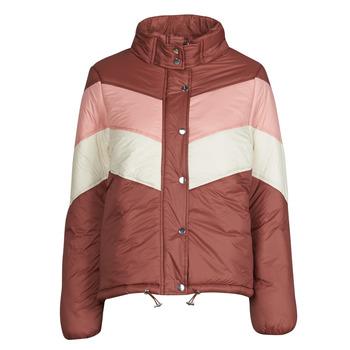Ruhák Női Steppelt kabátok Deeluxe CLAUDINE Piros / Rózsaszín