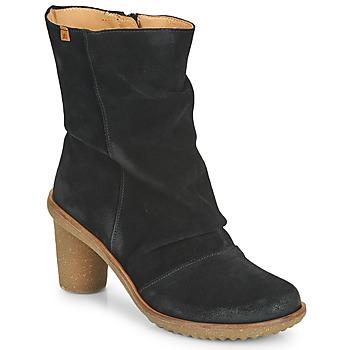 Cipők Női Bokacsizmák El Naturalista LUX Fekete