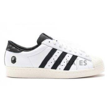Cipők Magas szárú edzőcipők adidas Originals Bape x adidas Superstar Footwear White/Core Black-Off-White