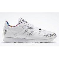 Cipők Magas szárú edzőcipők Reebok Classic Reebok Classic Leather ?Peace Train? White/Black-White
