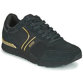 Cipők Férfi Rövid szárú edzőcipők BOSS ARDICAL RUNN NYMX2 Fekete  / Arany