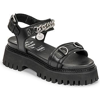 Cipők Női Szandálok / Saruk Bronx GROOVY SANDAL Fekete