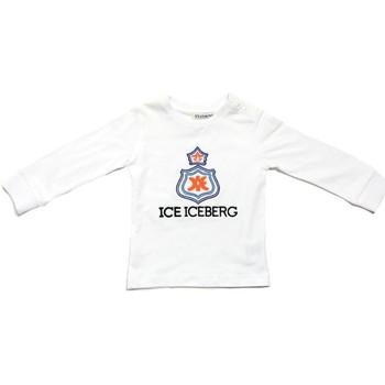 Ruhák Fiú Hosszú ujjú pólók Iceberg TSICE0316B Bianco
