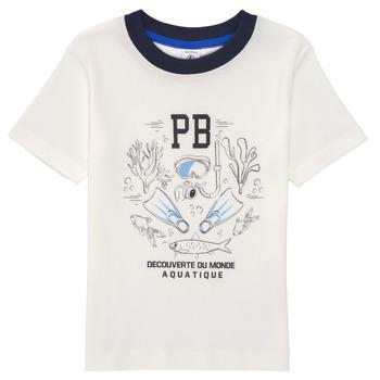 Ruhák Fiú Rövid ujjú pólók Petit Bateau MARCO Fehér