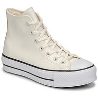 Cipők Női Magas szárú edzőcipők Converse CHUCK TAYLOR ALL STAR LIFT ANODIZED METALS HI Fehér / Bézs