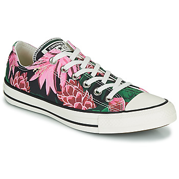 Cipők Női Rövid szárú edzőcipők Converse CHUCK TAYLOR ALL STAR JUNGLE SCENE OX Rózsaszín / Zöld