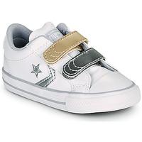 Cipők Lány Rövid szárú edzőcipők Converse STAR PLAYER 2V METALLIC LEATHER OX Fehér