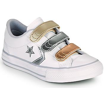 Cipők Lány Rövid szárú edzőcipők Converse STAR PLAYER 3V METALLIC LEATHER OX Fehér