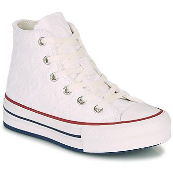 Cipők Lány Magas szárú edzőcipők Converse CHUCK TAYLOR ALL STAR LIFT LOVE CEREMONY HI Fehér