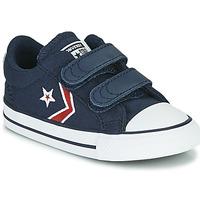 Cipők Fiú Rövid szárú edzőcipők Converse STAR PLAYER 2V TEXTILE DISTORT OX Kék / Piros