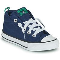 Cipők Fiú Magas szárú edzőcipők Converse CHUCK TAYLOR ALL STAR STREET CANVAS COLOR MID Kék