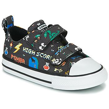 Cipők Fiú Rövid szárú edzőcipők Converse CHUCK TAYLOR ALL STAR 2V BOYS GAMER OX Fekete  / Sokszínű