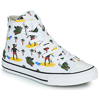 Cipők Fiú Magas szárú edzőcipők Converse CHUCK TAYLOR ALL STAR CROCO SURF HI Fehér / Zöld