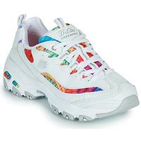 Cipők Női Rövid szárú edzőcipők Skechers D'LITES SUMMER FIESTA Fehér / Sokszínű