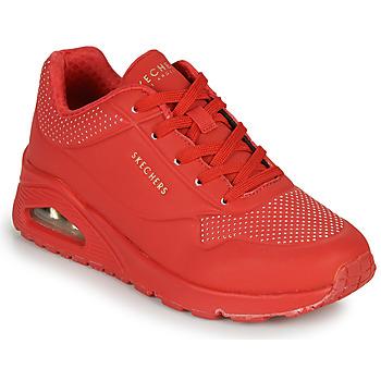 Cipők Női Rövid szárú edzőcipők Skechers UNO STAND ON AIR Piros