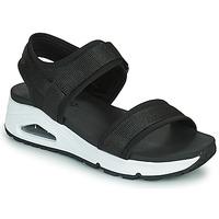 Cipők Női Szandálok / Saruk Skechers UNO Fekete