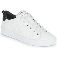 Cipők Női Rövid szárú edzőcipők Skechers SIDE STREET Fehér