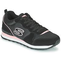 Cipők Női Rövid szárú edzőcipők Skechers OG 85 Fekete  / Rózsaszín