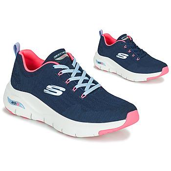 Cipők Női Rövid szárú edzőcipők Skechers ARCH FIT Tengerész / Rózsaszín