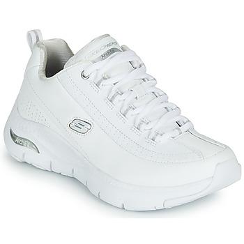 Cipők Női Rövid szárú edzőcipők Skechers ARCH FIT Fehér