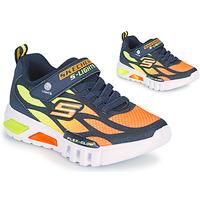 Cipők Fiú Rövid szárú edzőcipők Skechers FLEX-GLOW Tengerész / Narancssárga