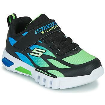 Cipők Fiú Rövid szárú edzőcipők Skechers FLEX-GLOW Fekete  / Kék / Zöld