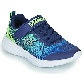 Cipők Fiú Rövid szárú edzőcipők Skechers GO RUN 600 Kék / Zöld