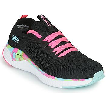 Cipők Lány Rövid szárú edzőcipők Skechers SOLAR FUSE Fekete  / Rózsaszín
