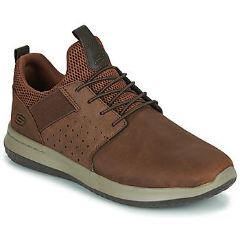 Cipők Férfi Rövid szárú edzőcipők Skechers DELSON AXTON Barna