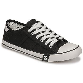 Cipők Női Rövid szárú edzőcipők Le Temps des Cerises EASY Fekete