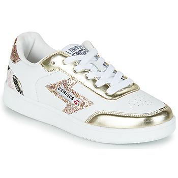 Cipők Női Rövid szárú edzőcipők Le Temps des Cerises FLASH Fehér / Arany