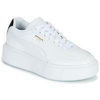 Cipők Női Rövid szárú edzőcipők Puma CALI OSLO Fehér / Fekete