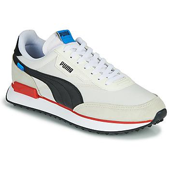 Cipők Férfi Rövid szárú edzőcipők Puma FUTURE RIDER PLAY ON Fehér / Fekete  / Piros