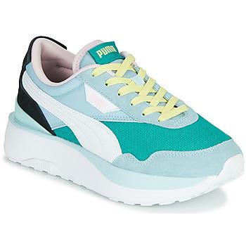 Cipők Női Rövid szárú edzőcipők Puma CRUISE RIDER SILK Kék / Fehér / Fekete