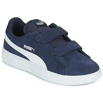 Cipők Gyerek Rövid szárú edzőcipők Puma SMASH PS Kék