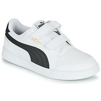 Cipők Gyerek Rövid szárú edzőcipők Puma SHUFFLE PS Fehér / Fekete