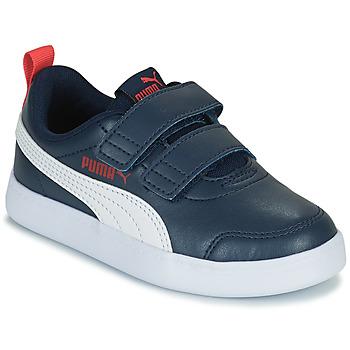 Cipők Gyerek Rövid szárú edzőcipők Puma COURTFLEX PS Fekete
