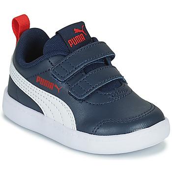 Cipők Gyerek Rövid szárú edzőcipők Puma COURTFLEX INF Fekete