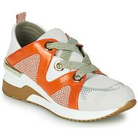 Cipők Női Rövid szárú edzőcipők Mam'Zelle VELODE Bézs / Narancssárga