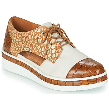 Cipők Női Oxford cipők Mam'Zelle KIGALI Fehér / Barna