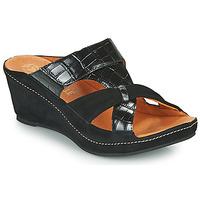 Cipők Női Papucsok Mam'Zelle DINAMO Fekete