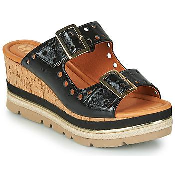 Cipők Női Papucsok Mam'Zelle PULSE Fekete