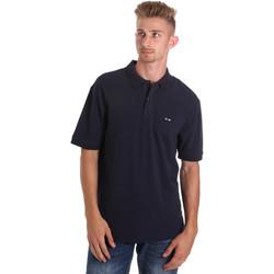 Ruhák Férfi Rövid ujjú galléros pólók Les Copains 9U9015 Kék