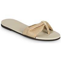 Cipők Női Lábujjközös papucsok Havaianas YOU ST TROPEZ SHINE Bézs